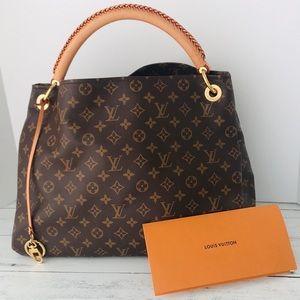 Louis Vuitton Artsy MM MNG Large Shoulder Bag tote